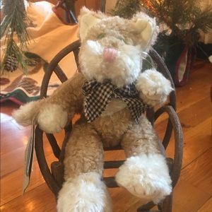 Boyd's bears Catherine kitty cat with gingham bow